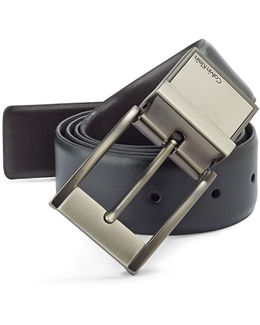 Reversible Leather Dress Belt