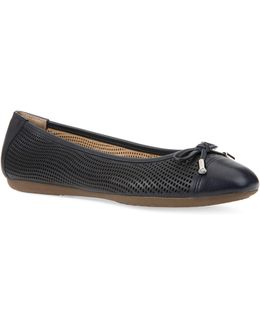 Lola Perforated Leather Ballet Flats
