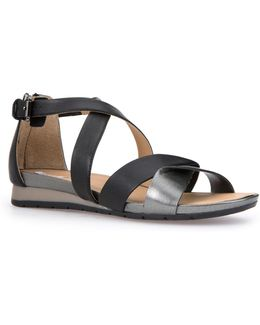 Formosa Full Grain Leather Flat Sandals