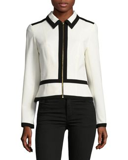 Monochrome Lux Zip Front Jacket