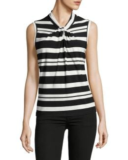 Striped Knot Neck Tank