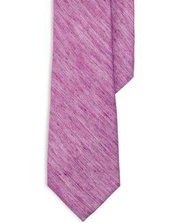 Herringbone Linen-silk Tie