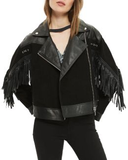 Stand Out Embellished Leather Jacket