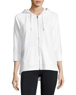 Cotton Zip-up Hooded Sweatshirt