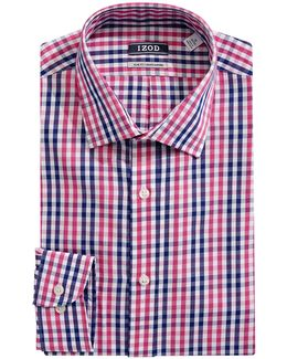 Long Sleeve Slim Fit Check Shirt