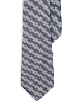 Striped Silk-cotton Tie