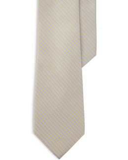 Striped Silk-blend Tie