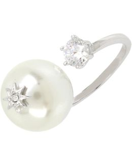 Faux Pearl Open Ringfaux Pearl Open Ring