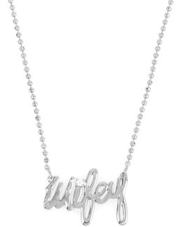 Wifey Pendant Necklace