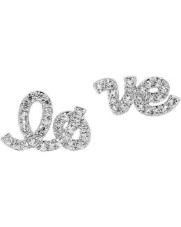 Pave Love Stud Earrings