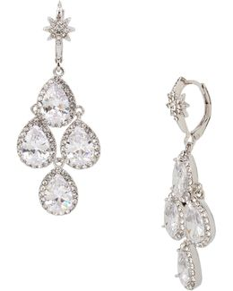 Crystal Stone Chandelier Earrings