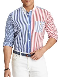 Big And Tall Classic-fit Mixed-patterned Cotton Shirt
