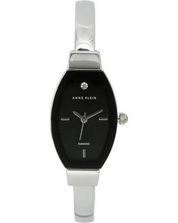 Analog Edge-to-edge Tonneau Silvertone Bracelet Watch