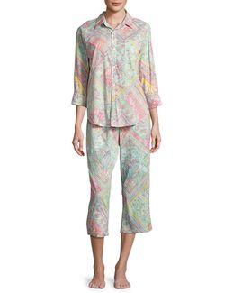 His Shirt Capri Pyjama Set