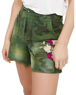 Embroidered Scout Shorts