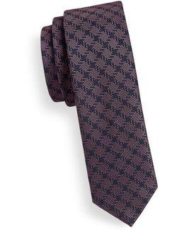 Slim Checkered Silk Tie