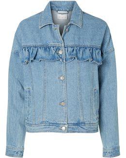 Olivia Ruffle Short Denim Jacket