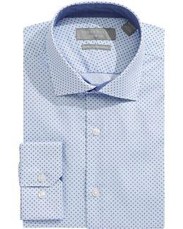 Slim-fit Graph Print Dress Shirt
