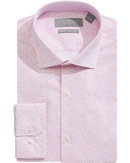 Slim-fit Floral Dress Shirt