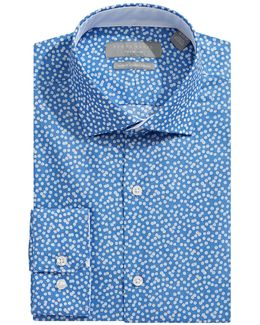 Slim-fit Digital Print Dress Shirt