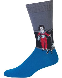 Novelty Boy Crew Socks