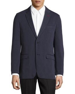 Melange Single-breasted Sports Jacket