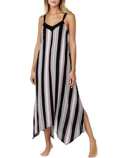 Striped Sleeveless Gown