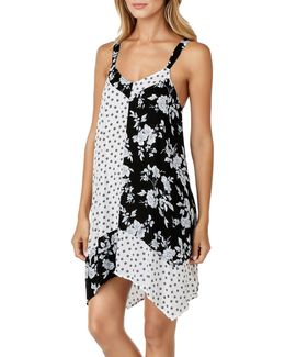 Floral And Geometric Print Chemise