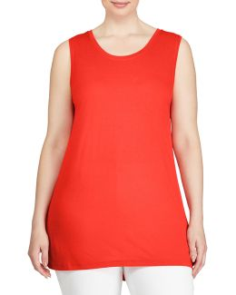 Plus Sleeveless Jersey Top
