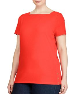 Plus Boat Neck Top