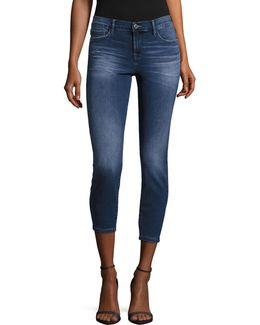 Greenwich Mid-rise Crop Skinny Jeans
