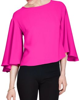 Plus Crepe Cropped Top