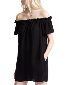 Dew Ruffle Off-the-shoulder Dress