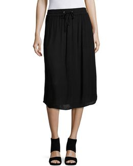 Crinkle Drawstring Skirt