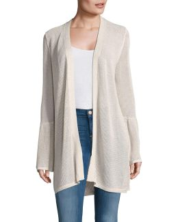Bell-sleeve Knit Duster Cardigan