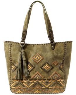 Woven Detailed Tote