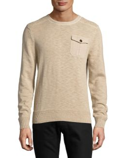 Harrison Military Crew Neck Sweater