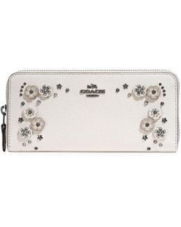 Willow Floral Slim Accordion Leather Wallet