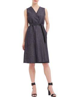 Mediterranean Escape Belted Fold Dress