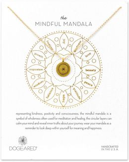 Mindful Mandala 14k Goldplated Necklace