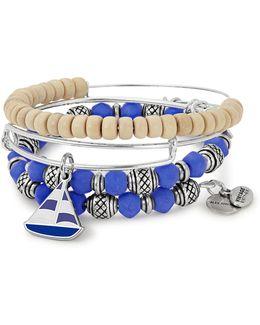 Sailboat Three-piece Bracelet Set