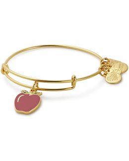Apple Charm Bangle Bracelet