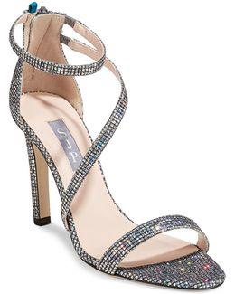 Serpentine Glitter High Heel Sandals