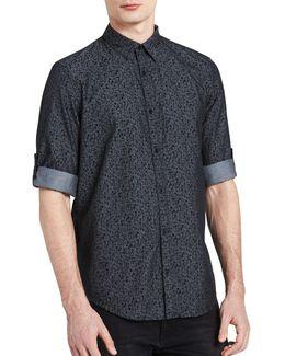 Floral-print Cotton Shirt