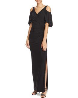 Slim-fit Cold-shoulder Matte Jersey Gown
