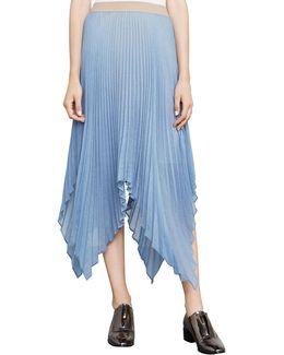 Rumi Asymmetric Pleated Skirt