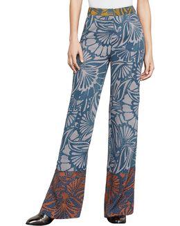 Chris Floral-print Wide-leg Pants