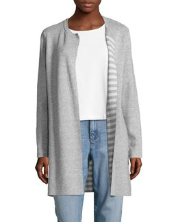 Cashmere-blend Reversible Cardigan