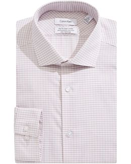 Steel Slim-fit Plaid Dress Shirt