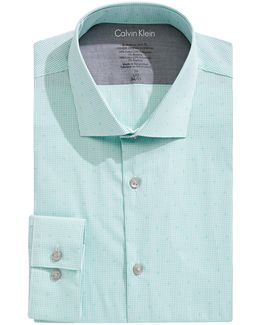 Grid Check X-fit Slim Dress Shirt